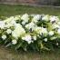 Napisy na szarfach wieńców pogrzebowych
